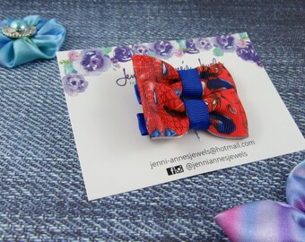 Bow Tie Hair Clip - Set of 2 - Spiderman