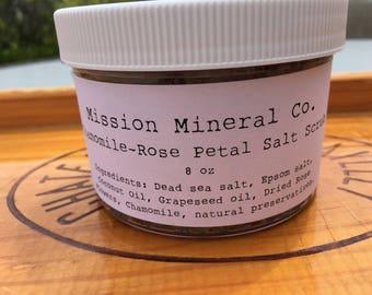 Chamomile-Rose Petal Salt Scrub