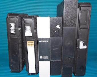 """3/4"""" Cassette tape cases, 6, TV tape cases"""