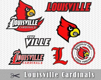 Louisville Cardinals SVG PNG Dxf Logo Vector Cut File Silhouette Cameo Cricut Design Template Stencil Vinyl Decal Tshirt Heat Transfer Iron