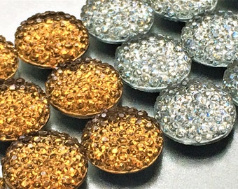 Metallic Bling Magnets in Decorative Tin | Set of 9 | Super Strong | Glitter Magnets | Crystal Magnets | Sparkly Magnets | Fridge Magnets
