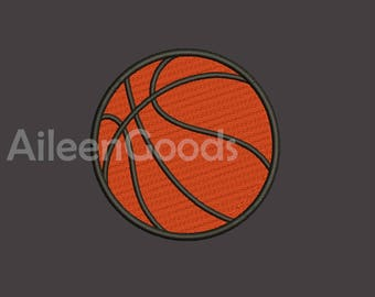 Basketball Embroidery  design 7 Size  INSTANT download machine embroidery