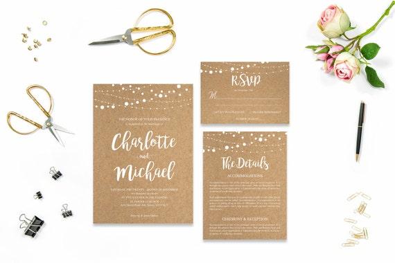 Craft wedding invite_3,Printable Wedding Invitation Suite,Wedding Invite Set,Wedding Printable,Calligraphy