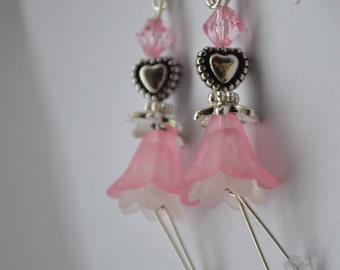 Angel Flower Earrings, Love Heart Earrings, Limited Edition