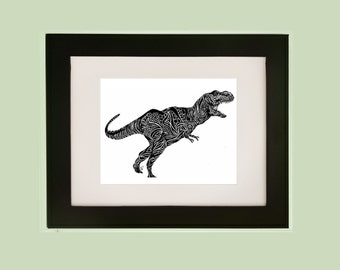 Dinosaur Wall Art, Dinosaur Wall Decor, Dinosaur Gift, Dinosaur Print,  Dinosaur Room Part 76