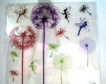 Dandelion, Fairy Clear Stamp Set Fairies Pixie