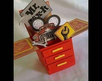 Happy birthday tool box card