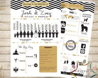 Wedding Program Infographic - Chevron - Totally unique