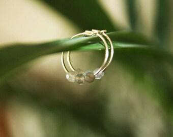 Earrings labradorite / labradorite earrings