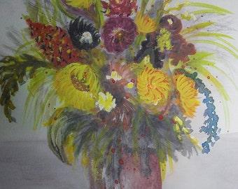 Autumn greetings, art print limited edition 26 x 31 cm