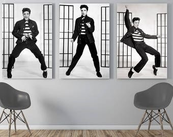 Elvis Presley, Elvis Presley print, Elvis Presley art, Elvis Presley poster, Elvis, Fashion print, set of 3 prints, print set, rock and roll