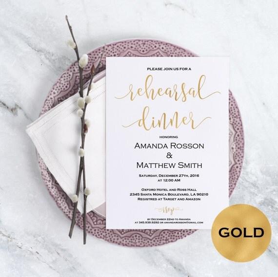 Rehearsal dinner invitation - Gold Wedding Invitatio - Blus Wedding Invitation  - Rehearsal Invitation -  Downloadable wedding #WDH0150