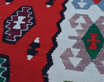 Beautiful hand woven turkish kilim