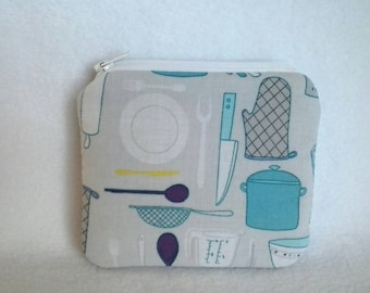 Kitchen utensils coin purse, change wallet