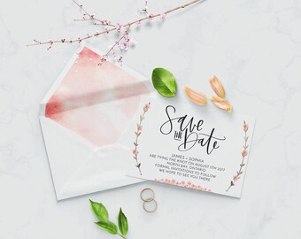 Save The Date (Hand Lettering Print Download)