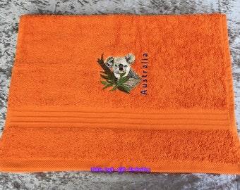Hand Towel – Koala – Australia – Orange