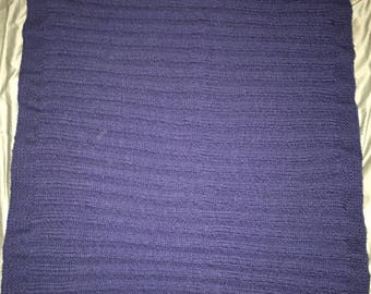 Soft Navy Traditional Ribbed Baby Blanket