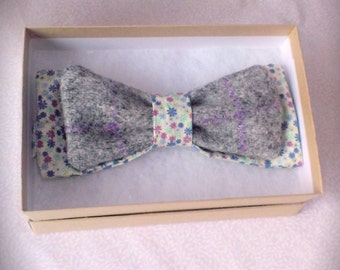 Harris tweed adjustable bow tie, men's gift, bow tie, fathers day.