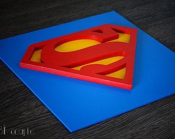Discount 50%on shiping, Superhero Superman, Wall art, Kids bedroom wall art