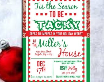 ugly christmas sweater - Ugly sweater invitation - Ugly Sweater Party-Ugly Sweater Party Invite, Christmas Party Invite, Holiday PRINTABLE