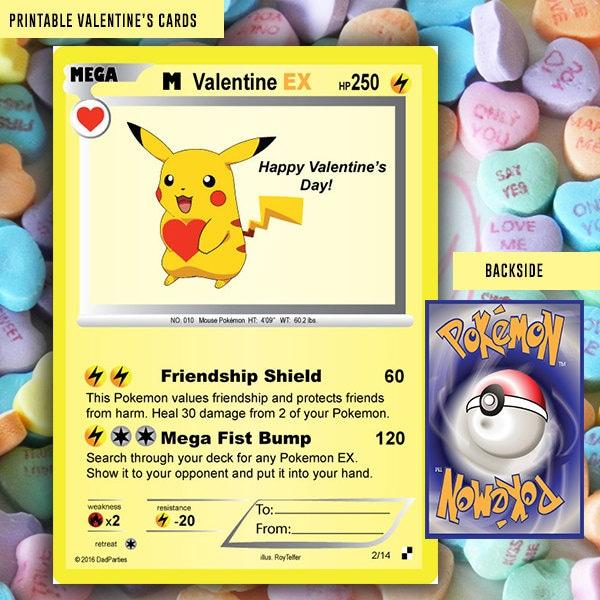 Enterprising image in pokemon valentine cards printable
