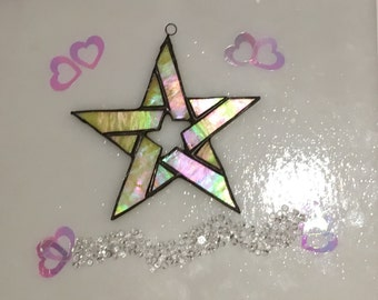 Stained Glass Star Ornament - 5- Point