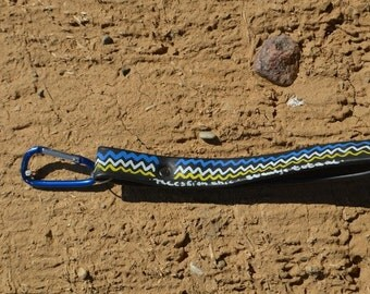 key chain of bicycle tube (upcycling art)