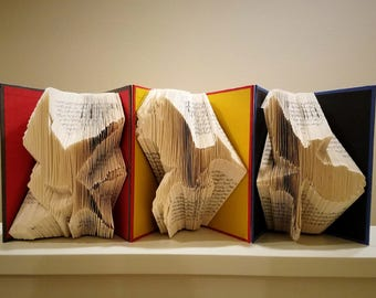 Hunger Games Mockingjay Trilogy - Folded Book Art