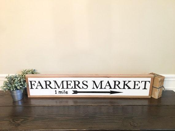Wooden Farmers Market Sign
