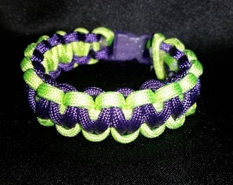 Green and Purple paracord bracelet