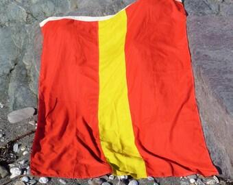 Nautical Signal Flag Number One. Beach House decor