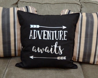 Adventure Awaits Throw Pillow / Accent Pillow / Home Decor