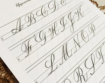Copperplate Practice Pad- Uppercase Letters