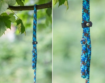 Slip Lead - Rope leash - Aqua