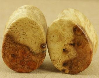 "Amboyna burl teardrop plugs | 19mm (3/4"")"