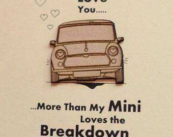 Classic mini Valentines Card.....I love you more......