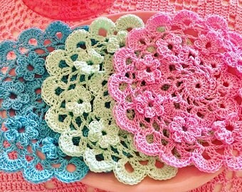 Coaster doily set of 4