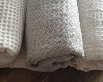 LINEN / HEMP / COTTON:  soft bath / hand towels, handmade from different natural soft pique fabrics _ linen, hemp or organic cotton