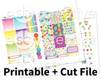 CandyLand Theme - Weekly Sticker Kit Printable for Erin Condren Horizontal - HWK-017 - INSTANT DOWNLOAD