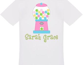 Personalized Gumball Machine T-Shirt For Girls