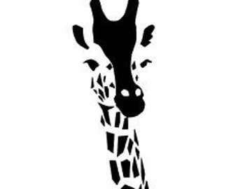 GIRAFFE, Geometric Style Giraffe; Quality Vinyl Decal; Christmas Car Decals, Gifts for Animal Lovers, Christmas Gift, FAST SHIPPING!!