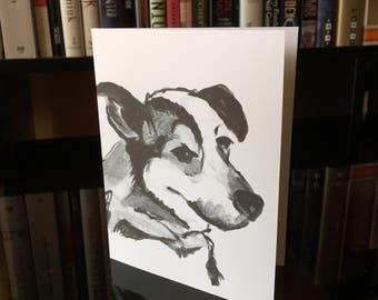 Blank Pet Notecard (dog)