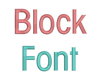 2 Size Block Font Embroidery Fonts BX Instant Download 9 Formats Embroidery Pattern Machine BX Embroidery Fonts PES