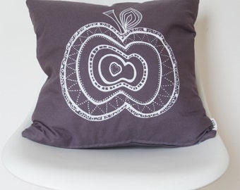 Apple Screen-Printed Cushion