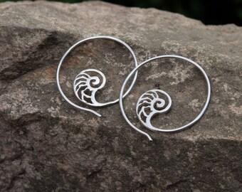Nautilus Hoop Earrings
