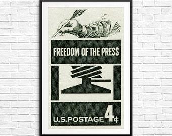 prints freedom of the press free press journalism democracy journalism ...