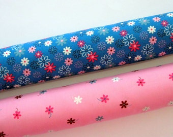 Floral Medium Weight Cotton Drill Fabric in, 112 cm.