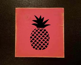 pineapple wood sign pineapple wood signs signs wooden fruit signs pineapple rustic home decor custom signs home decor - Custom Signs For Home Decor
