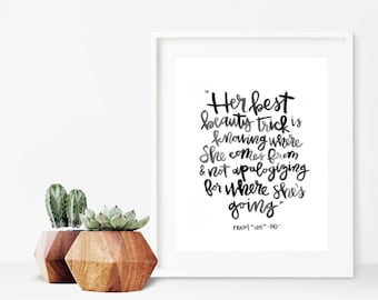 Beauty Trick // A4 Calligraphy Poetry Line Print