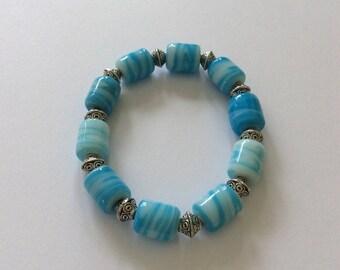 Blue beaded bracelet / beaded bracelet / beaded jewellery / blue bracelet / blue jewellery